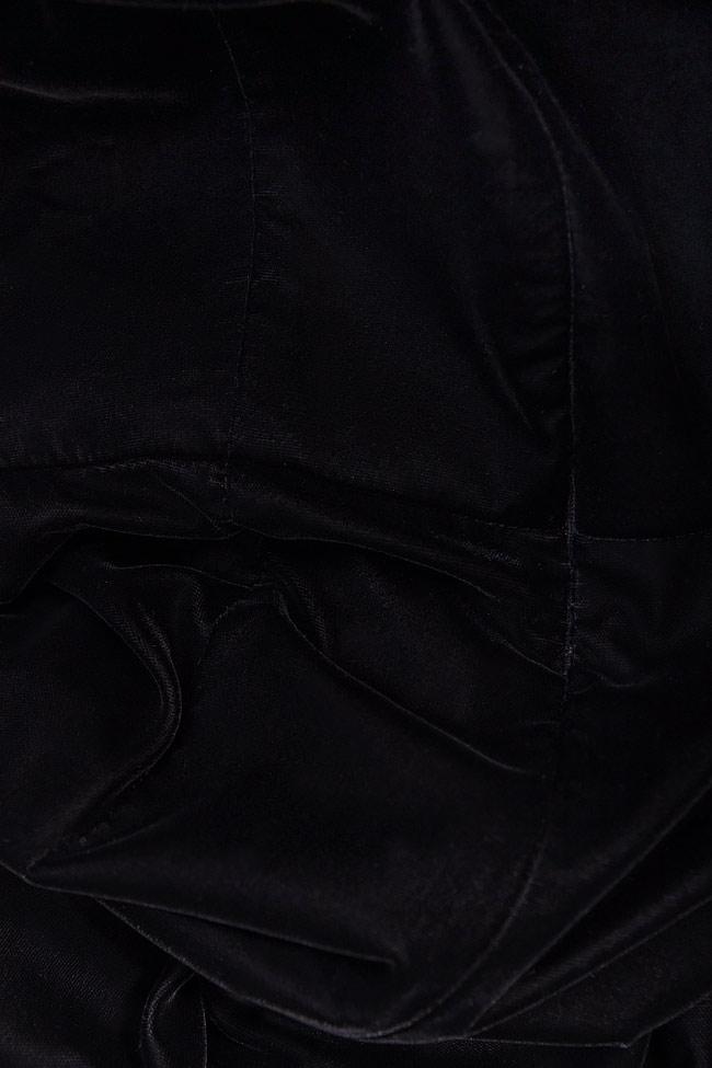 Salopeta din catifea cu insertii din dantela RHYNA M Marquise imagine 3