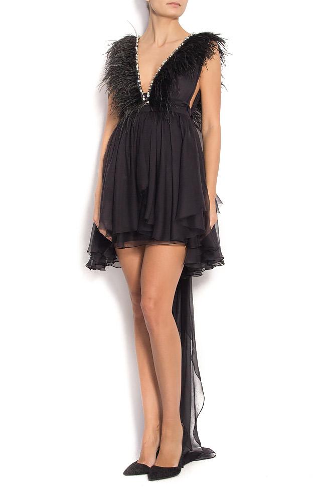 Birdy Tonight open-back silk dress Manuri image 0