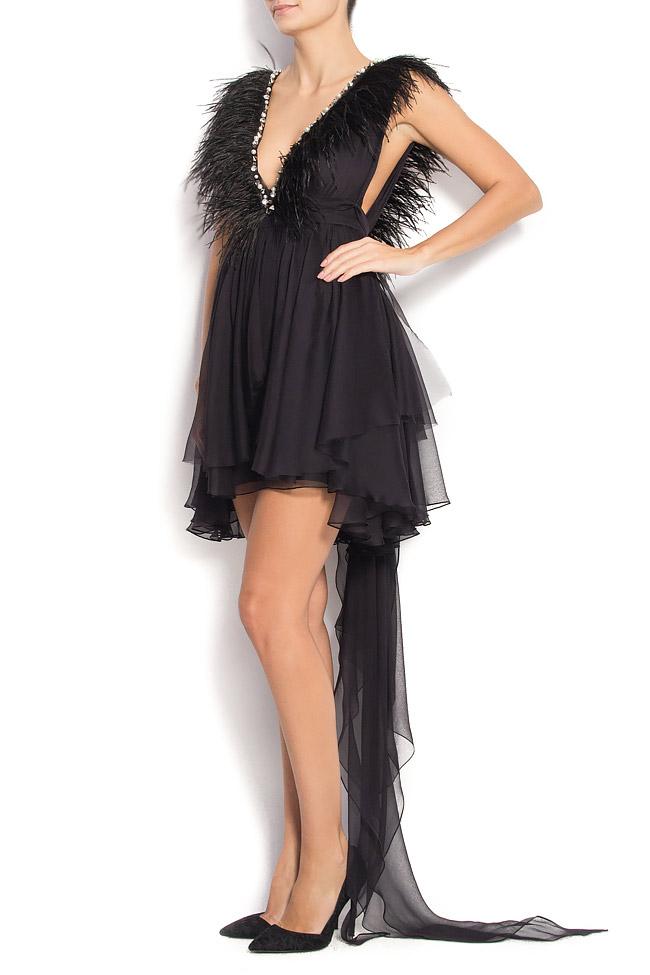 Birdy Tonight open-back silk dress Manuri image 1