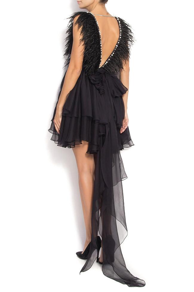 Birdy Tonight open-back silk dress Manuri image 2