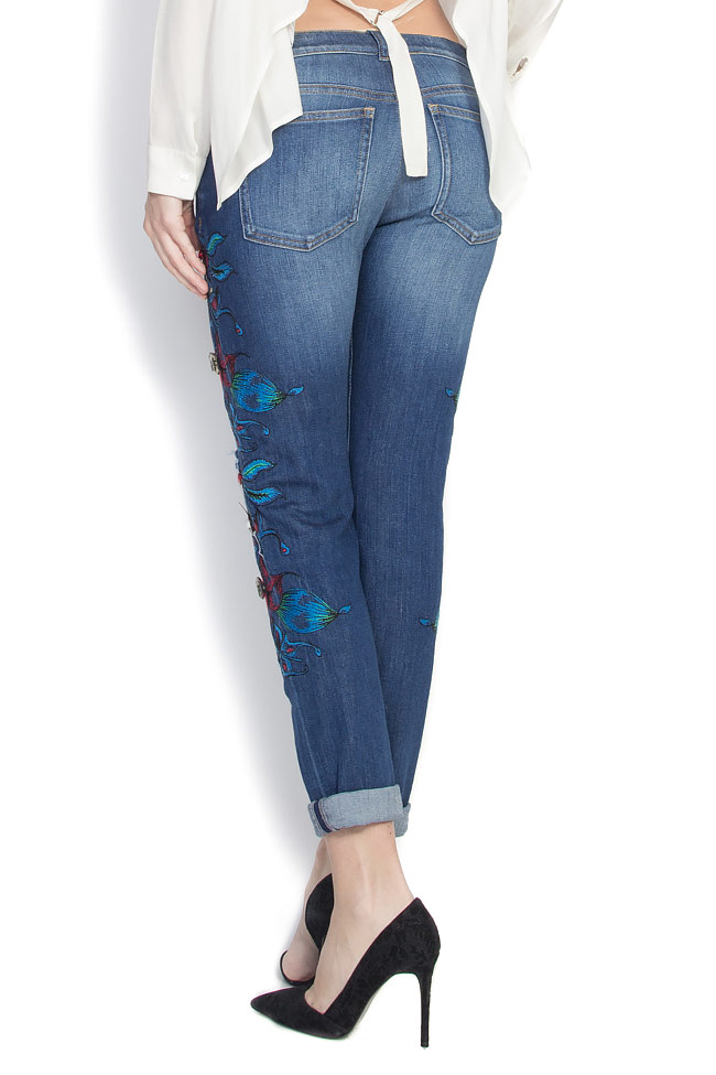 Embroidered denim pants Elena Perseil image 2