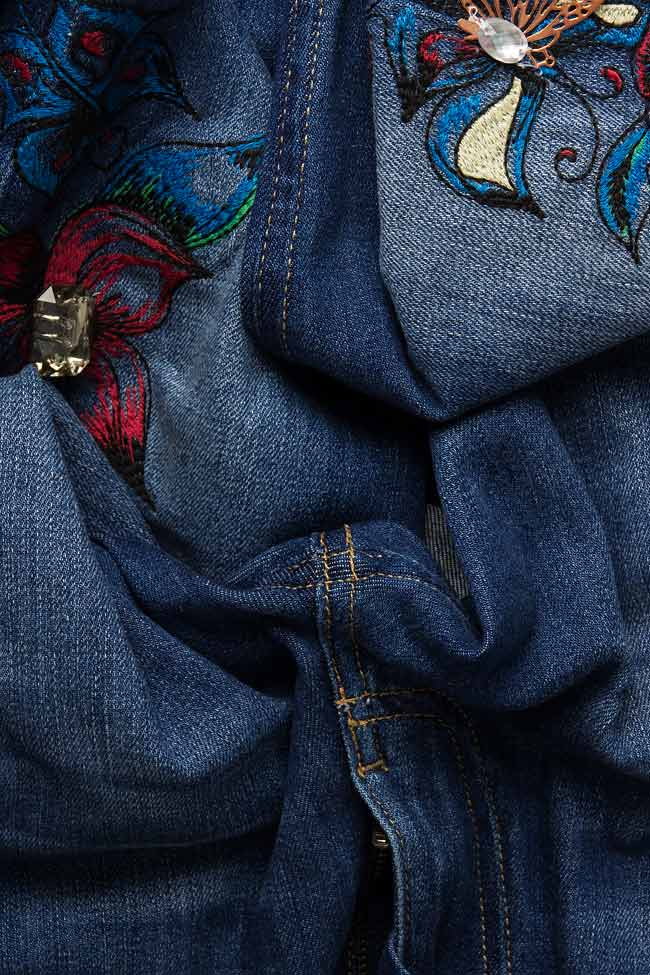 Embroidered denim pants Elena Perseil image 3