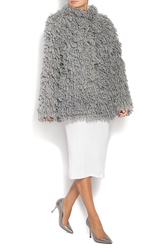 Fringed brushed wool jacket Alexandru Raicu image 0