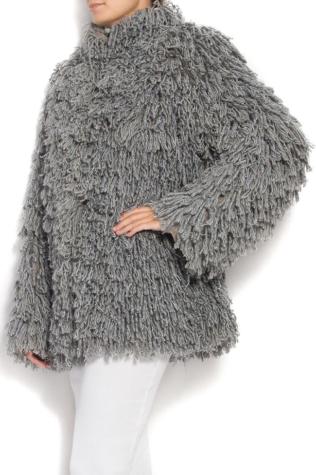 Fringed brushed wool jacket Alexandru Raicu image 2