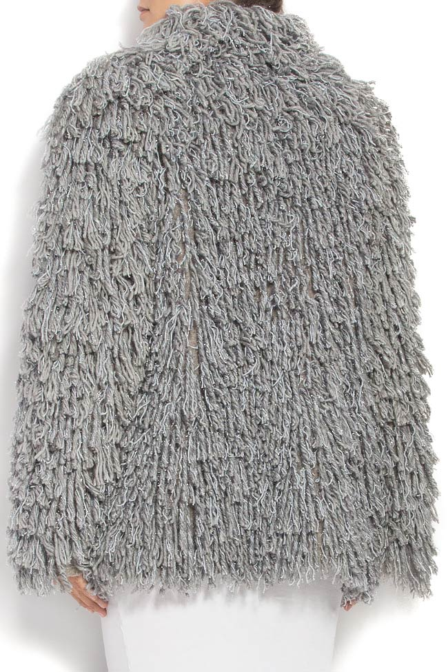 Fringed brushed wool jacket Alexandru Raicu image 3