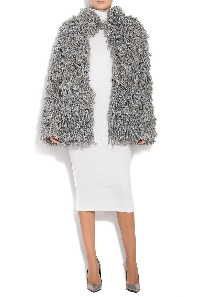 Fringed brushed wool jacket Alexandru Raicu image 1