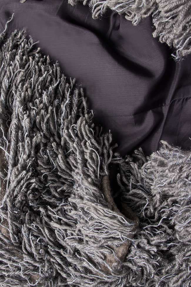 Fringed brushed wool jacket Alexandru Raicu image 4