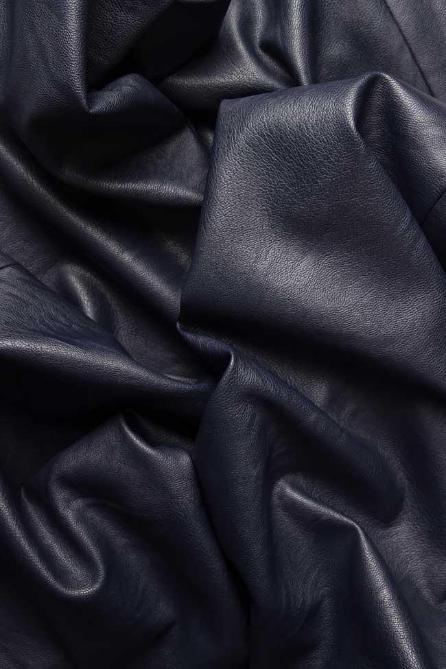 Pantaloni drepti din piele ecologica Lena Criveanu imagine 3