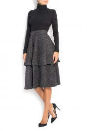 Dorin Negrau Asymmetric boiled wool skirt