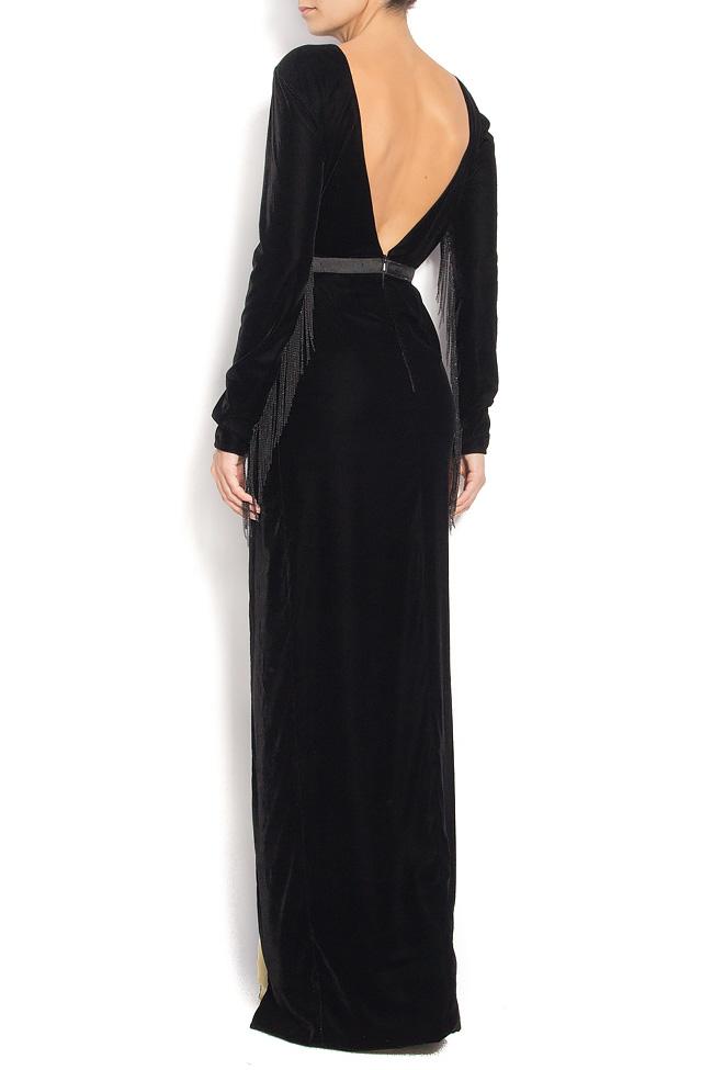 Velvet gown with side slit VONNIE Manuri image 2