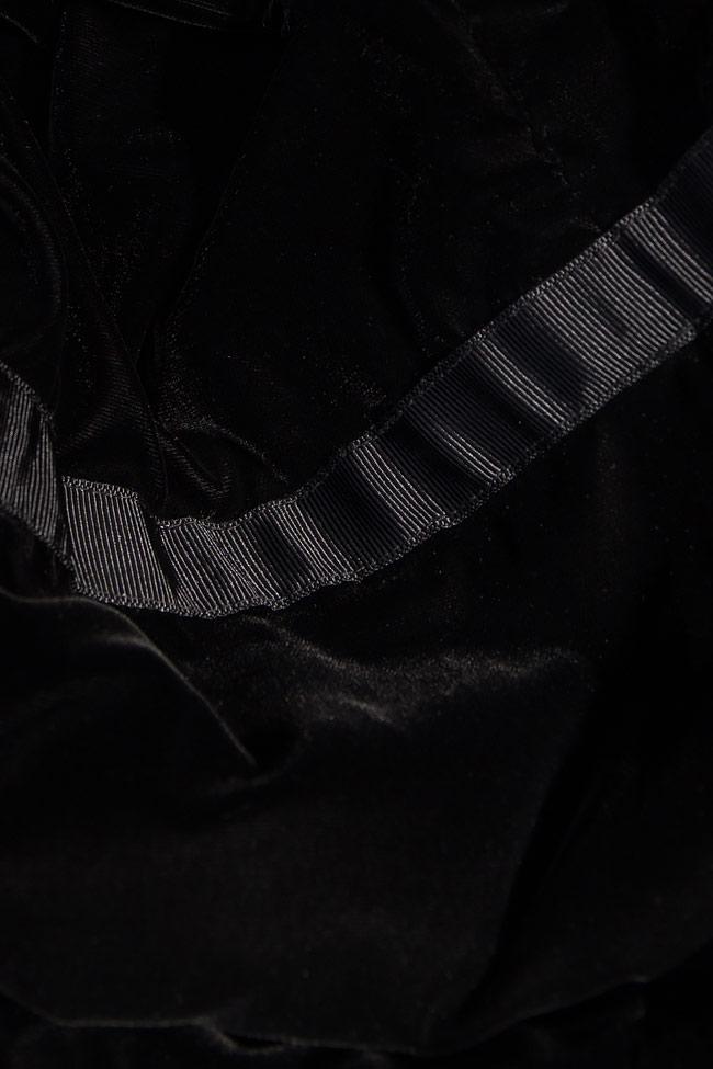 Rochie maxi din catifea cu slit pe picior VONNIE Manuri imagine 3