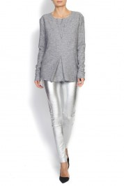 Mathis Stretch metallic leather leggings