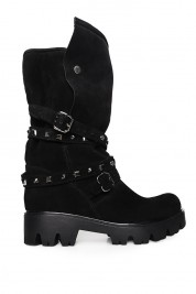 Ana Kaloni Black suede boots