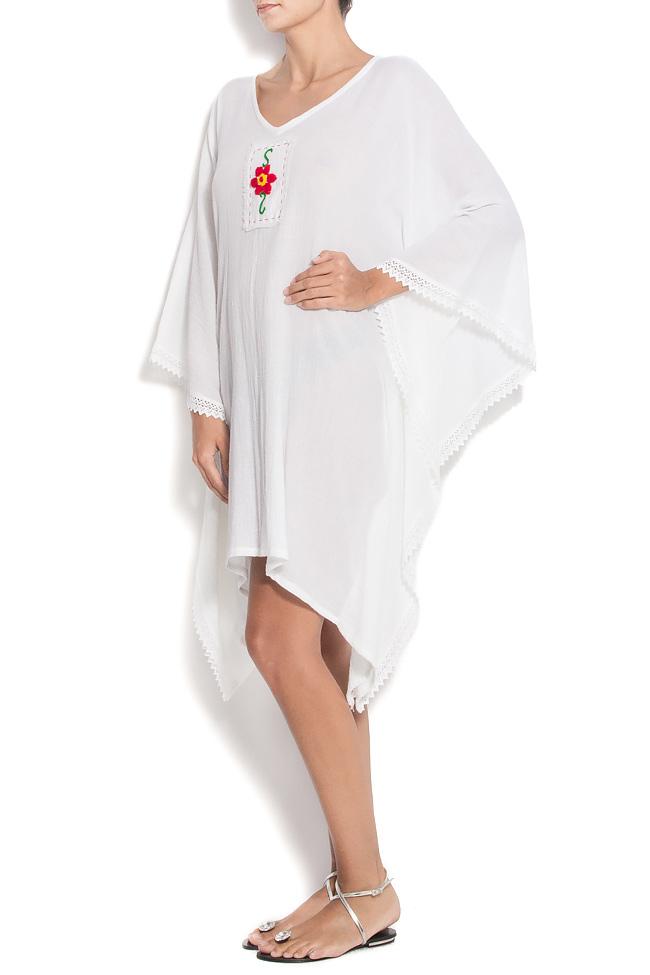 Robe en coton avec décolleté en V et broderie Nicoleta Obis image 1