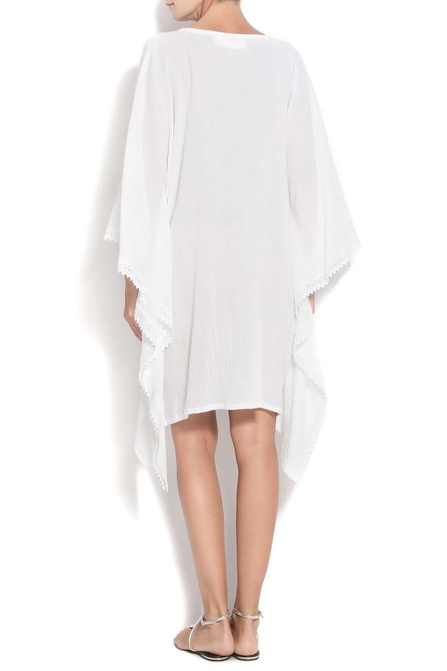 Robe en coton avec décolleté en V et broderie Nicoleta Obis image 2