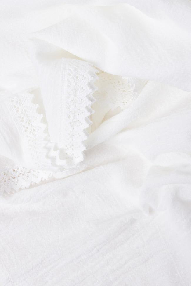Robe en coton avec décolleté en V et broderie Nicoleta Obis image 3