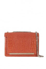 Wild Inga Croc-effect leather shoulder bag