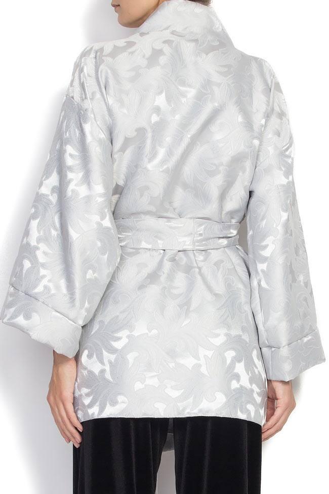 Jacheta tip kimono din brocart Cloche imagine 2