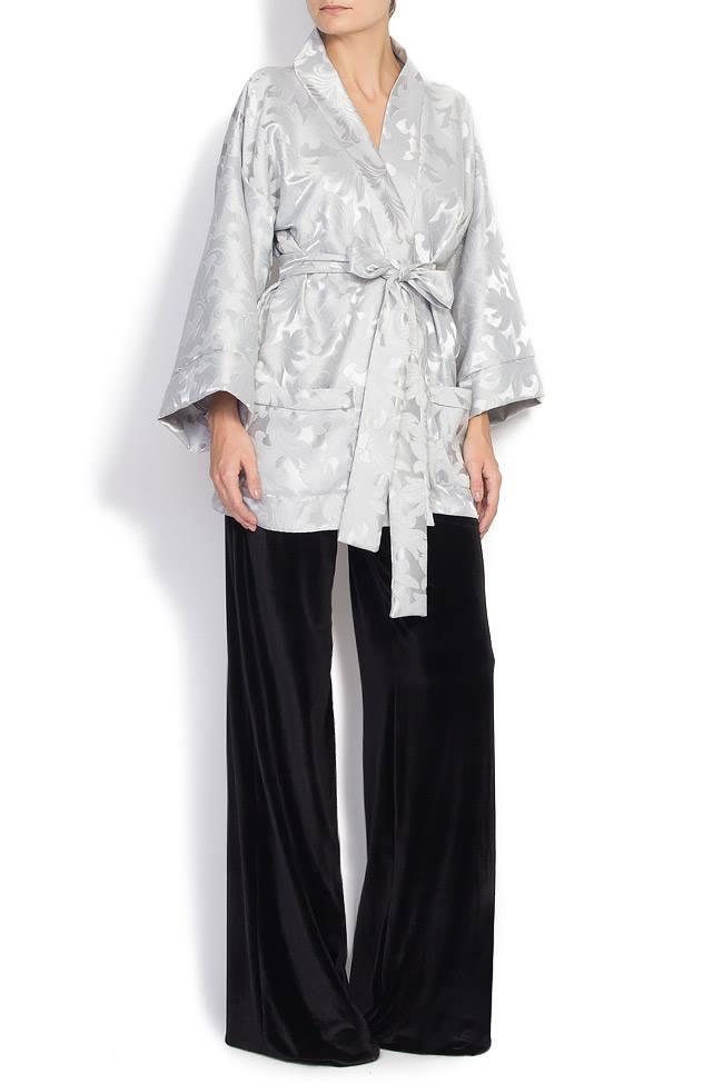 Jacheta tip kimono din brocart Cloche imagine 0