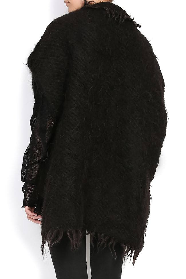 FLORICA leather tasseled sheep wool cape Nicoleta Obis image 2