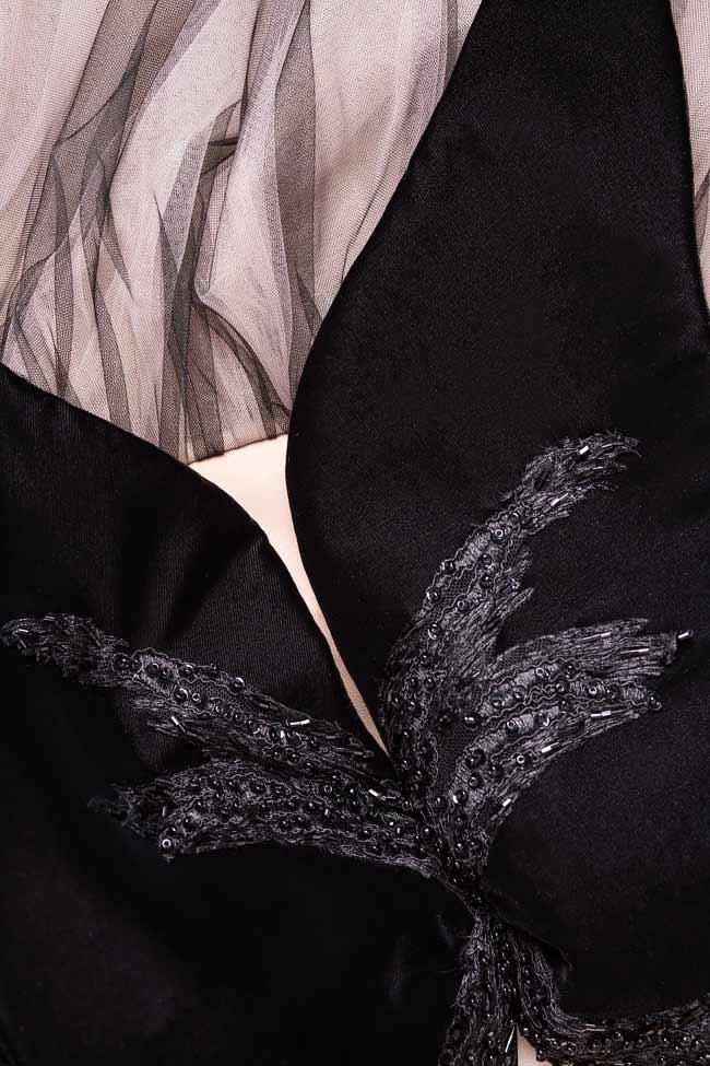 Rochie maxi din catifea si tul BUTTERFLY Nicole Enea imagine 3