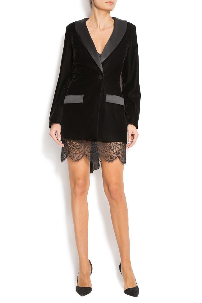 Velvet and lace blazer  Mirela Diaconu  image 0