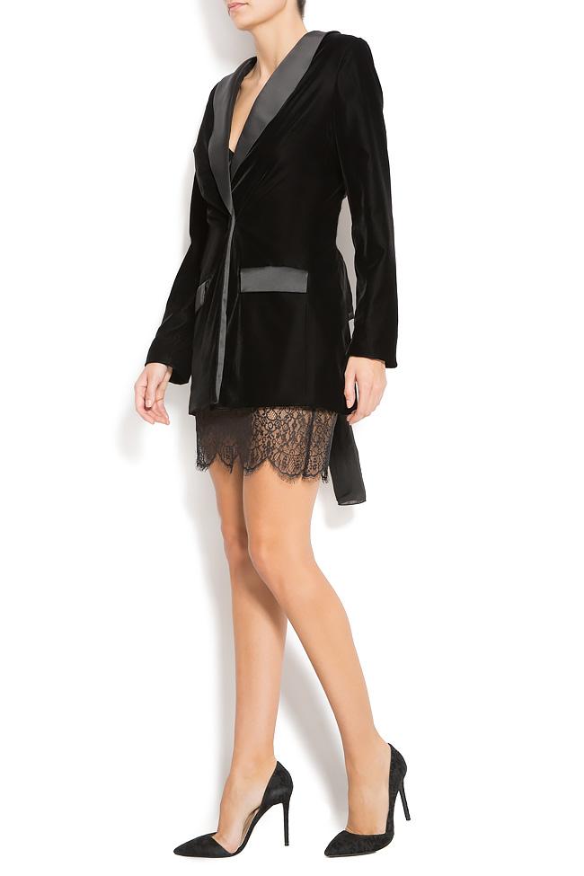 Velvet and lace blazer  Mirela Diaconu  image 1