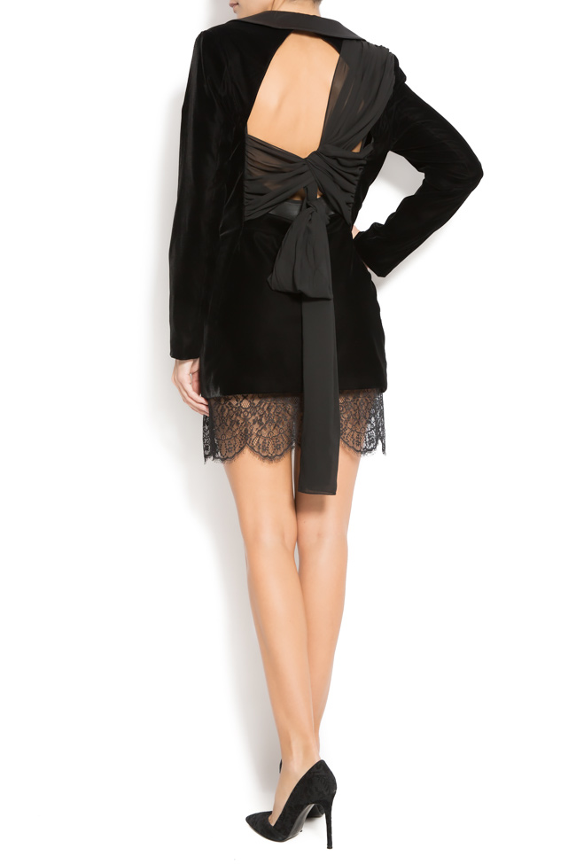 Velvet and lace blazer  Mirela Diaconu  image 2