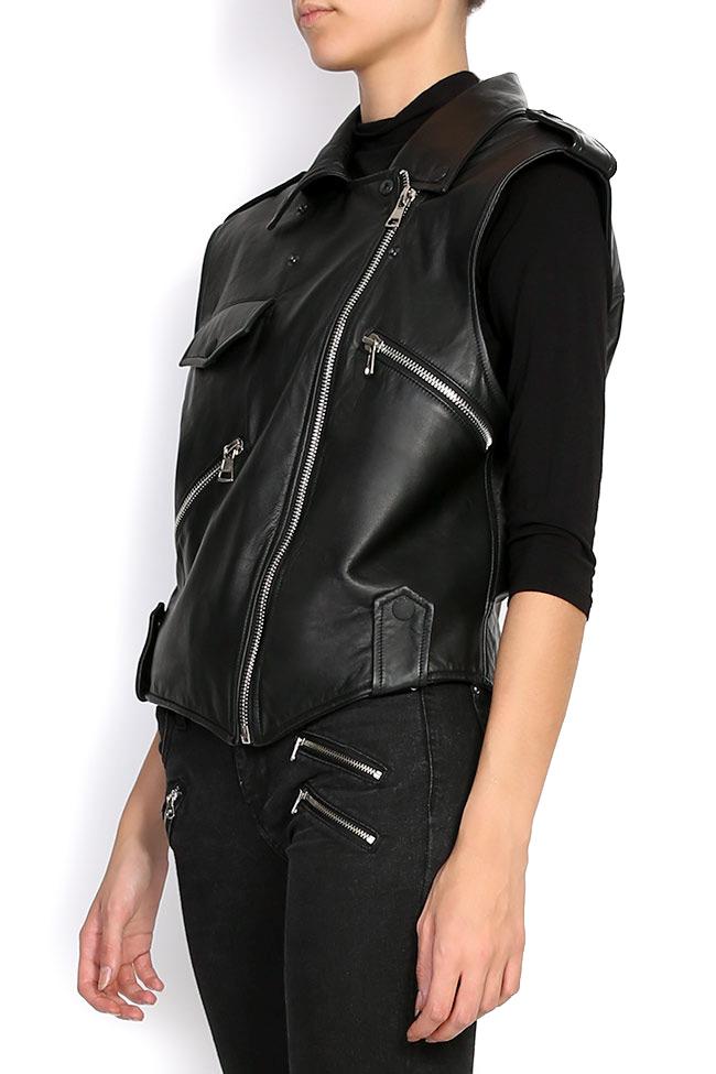HARPER leather vest Shakara image 1