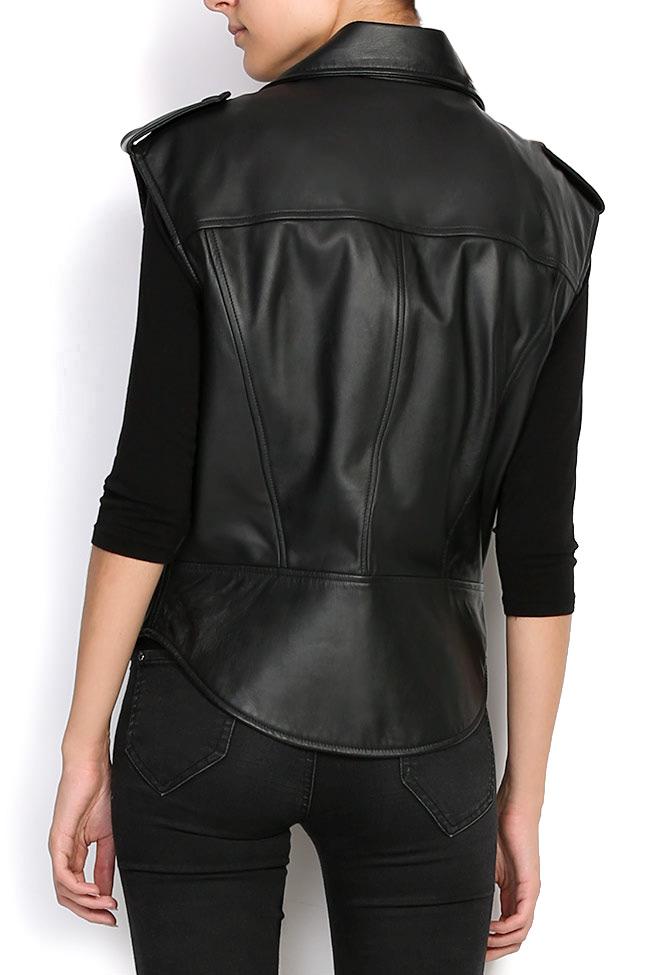 HARPER leather vest Shakara image 2