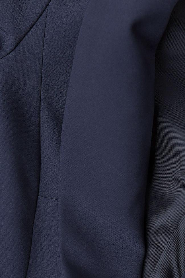 Sacou bleumarin din jerse Lena Criveanu imagine 3
