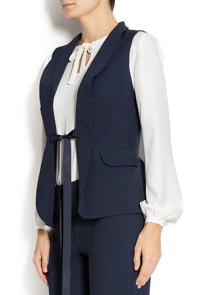 Navy-blue jersey vest  Lena Criveanu image 1