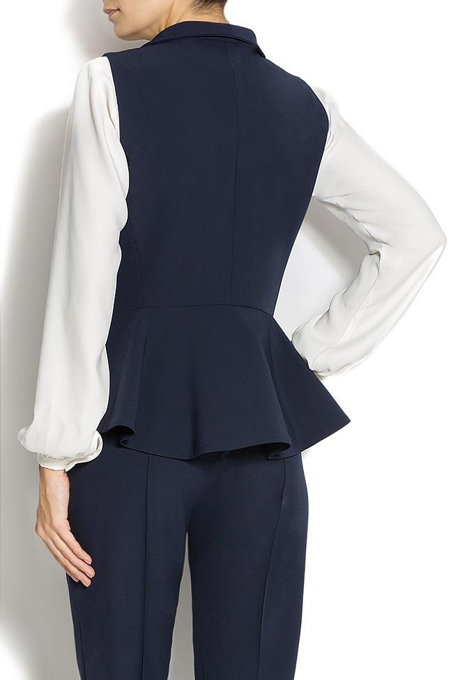 Navy-blue jersey vest  Lena Criveanu image 2