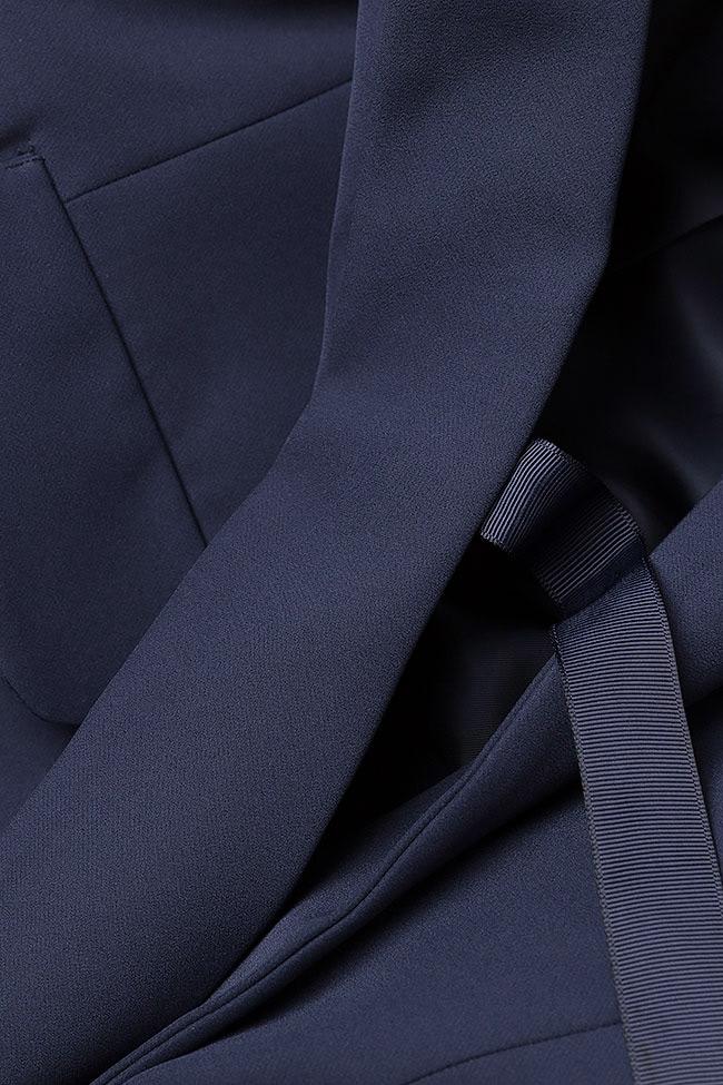 Navy-blue jersey vest  Lena Criveanu image 3