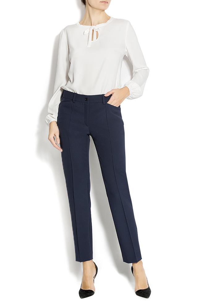 stretch jersey-blend straight-leg pants Lena Criveanu image 0