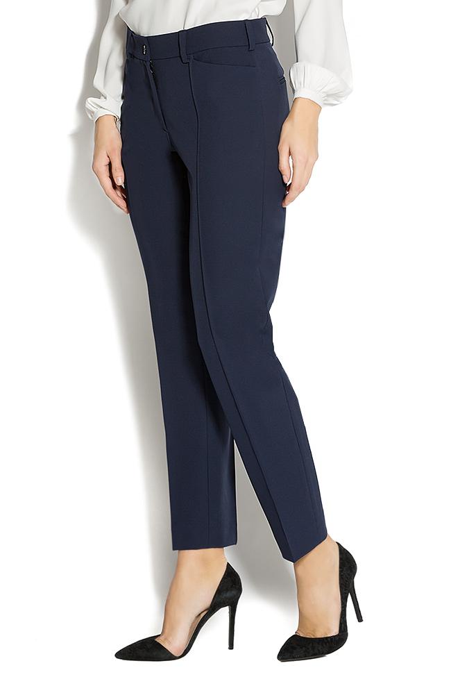 stretch jersey-blend straight-leg pants Lena Criveanu image 1
