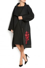 Maressia Embroidered wool coat