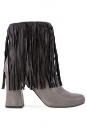 Zenon Fringed leather boots