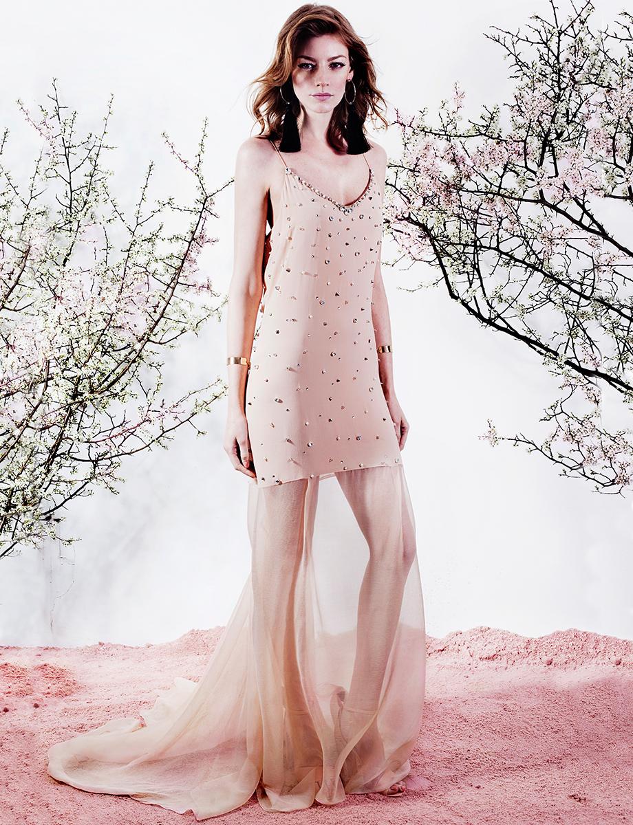MAXI BEAT open-back embellished silk dress  Manuri image 4
