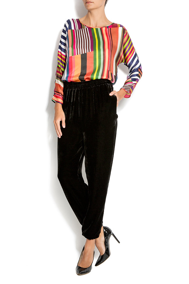 Silk-velvet pants Claudia Castrase image 0