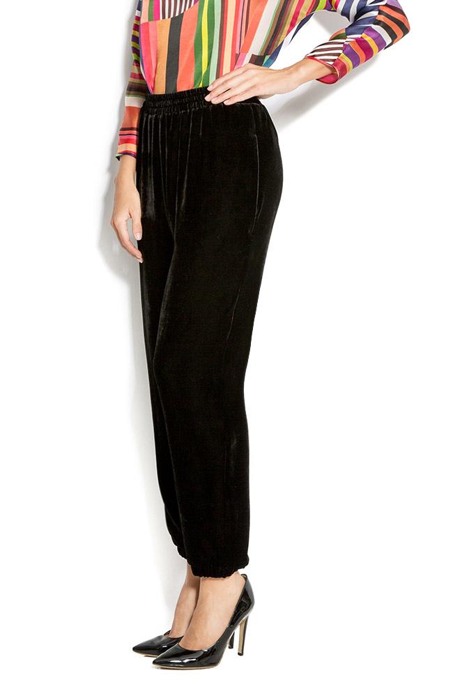 Silk-velvet pants Claudia Castrase image 1