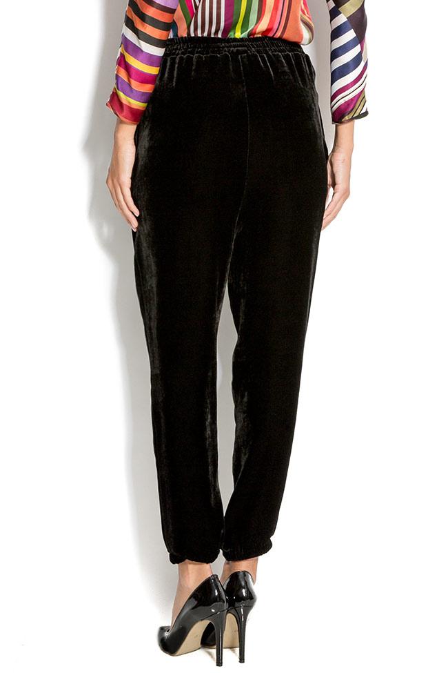 Silk-velvet pants Claudia Castrase image 2