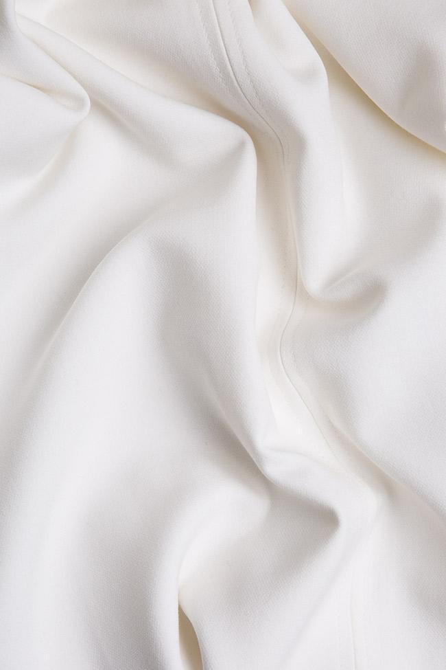 Fusta midi din stofa de bumbac cu slituri Claudia Castrase imagine 3