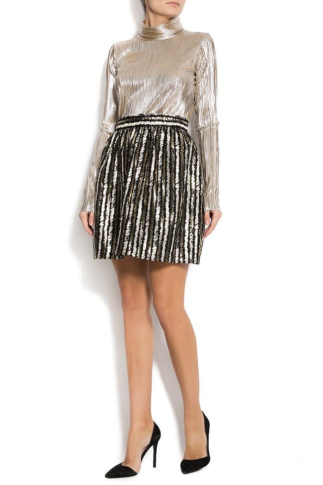 Stripped lame mini skirt  Carmen Ormenisan image 0