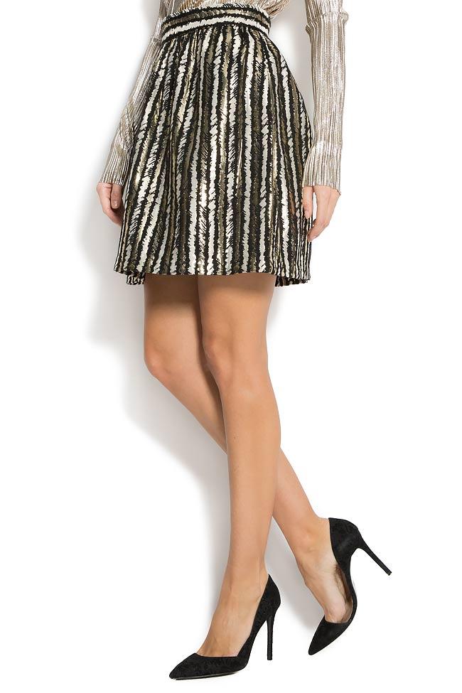 Stripped lame mini skirt  Carmen Ormenisan image 1