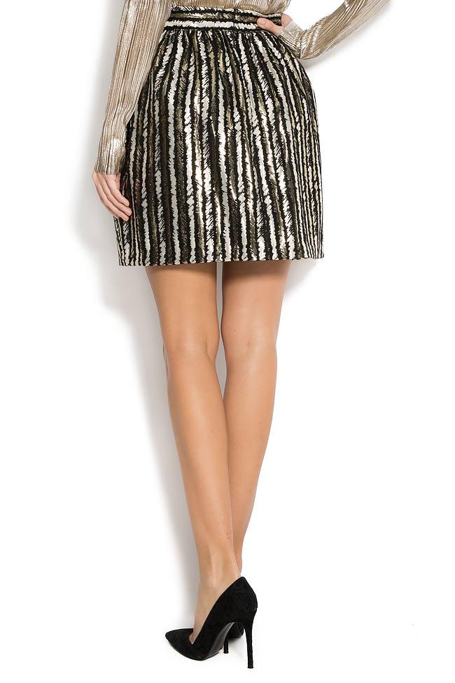 Stripped lame mini skirt  Carmen Ormenisan image 2