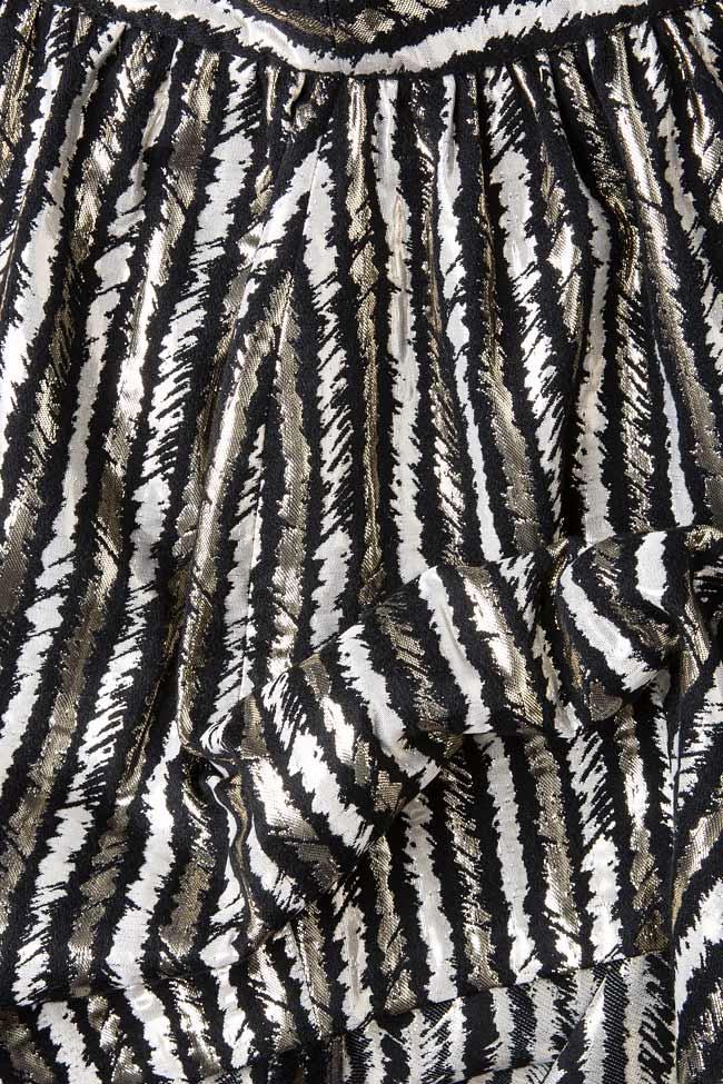 Stripped lame mini skirt  Carmen Ormenisan image 3