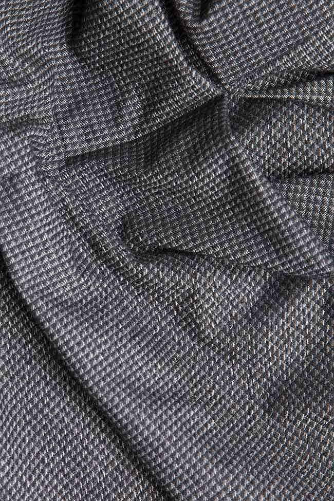 Rochie mini din stofa de lana in carouri Claudia Castrase imagine 3