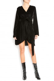 Cloche Velvet wrap dress