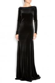 Cloche Open-back silk-velvet gown